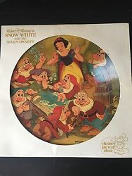 Rare - Snow White And The Seven Dwarves Disney Picture Disc - Vintage