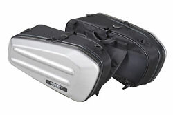 TANAX Twin Sport Shell Case Semi Hard Silver Bags for MotorCycle MFK 218 $332.41