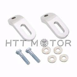 Pair Motorcycle Chrome Touchless Tie-downs For Harley Touring Electra Glide Flh/