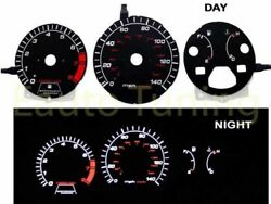 Black Indiglo El Gauges Kit Glow White Reverse For 90-93 Accord 2.2 Mt Only