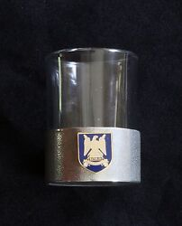 Royal Scots Dragoon Guards Shot Glass Pewter Based Round 50ml Military Gift Bk26