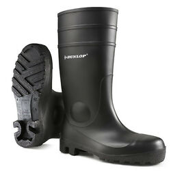 Dunlop Protomastor Black Waterproof Work Safety Wellington Boots Steel Toe Cap