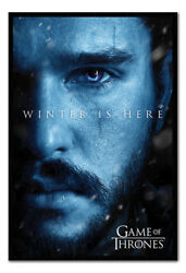 Game Of Thrones Jon Winter Is Here Poster Framed Cork Pin Board With Pins