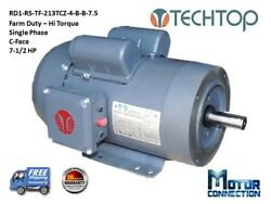 7.5 Hp Electric Motor Farm / Compressor Duty 1800andnbsprpm 1 Phase 213tcz C-face
