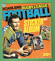 T6. Set172 1984 Scanlens Rugby League Stickers And Album