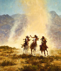 Howard Terpning Chased By The Devil Canvas Sold Out – Limited Edition