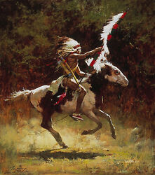Howard Terpning Sioux Flag Carrier Sold Out Limited Edition