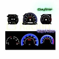 Black Indiglo El Gauges Kit Glow Blue Reverse For 05-09 Scion Tc 2.4l Mt Only