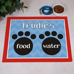 Food & Water Pet Food Mat for Dog or Cat Personalized GIFT - Custom Floor Mat