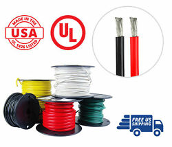 4 Awg Marine Wire Spool Tinned Copper Boat Cable 100and039 Red 100and039 Black Usa Made