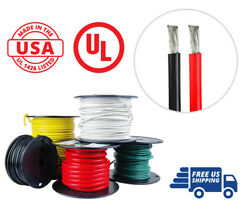 4 Awg Marine Wire Spool Tinned Copper Boat Cable 50ft Red And 50ft Black Usa Made