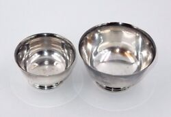 Set Of 2 Wm Rogers Paul Revere Reproduction Silver Plate Bowls