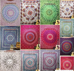 Lot Of Indian Tapestry Hippie Wall Hanging Dorm Decor Large Sheet Wholesale 10pc