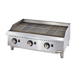 Winco Gcb-36r 36-inch Spectrum Gas Charbroiler With 3 Cooking Zones Nsf-4 Etl