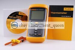 Fluke 52 Ii Dual Input Digital Thermometer With Two 80pk-1 Thermocouples F52-2