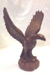 Red Mill Mfg Handcrafted American Eagle Wings Uplifted Figurine Pecan