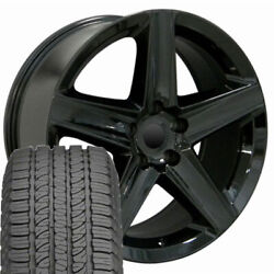 20 Wheel Tire Set Fit Jeep Dodge Grand Cherokee Style Blk Rims Gy Tires 9082