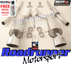 Milltek Audi Rs6 C5 Exhaust System Cat Back Resonated 2 X Ovals Ssxau354 And Tuv