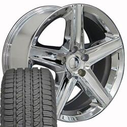 20 Wheel Tire Set Fit Jeep Dodge Grand Cherokee Style Chrome Rims Gy Tire 9082