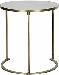 28 Set Of Two Side Table Night Stand Metal Quartz Stone Rustic Modern Antique 4