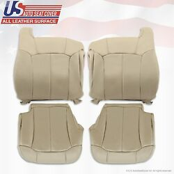 1999 - 2002 Chevy Tahoe Suburban Replacement Leather Seat Cover Shale Tan 522/i