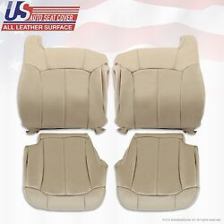 2002 Chevy Tahoe Replacement Leather Seat Cover Shale Tan
