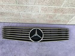 Mercedes Benz R129 300SL SL 320 500 600 OEM 7 Rib Gold Front Grill Assembly