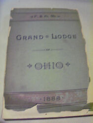 1888 Proceedings Of The Grand Lodge Of Free And Accepted Masons Of Ohio