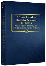 Whitman Classic Album 9115 Indian Head Or Buffalo Nickels 1913-1938 Book 5 Cent