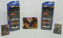 Lot Of 10 Harley Davidson Hot Wheels Diecast Gift Pack 164 And Playing Cards New