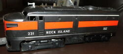 Lionel Rock Island 231 Switcher PLUS Cars Track Trestle Transformer