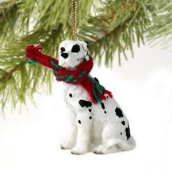 GREAT DANE HARLEQUIN UNCROPPED DOG CHRISTMAS ORNAMENT HOLIDAY Figurine gift