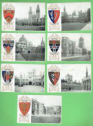 D301. Pre 1878 Oxford University Colleges Postcards With Embossed Arms