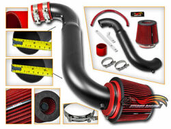 Matte Air Induction Intake + Cone Filter For 91-99 Saturn S-series 1.9l Dohc L4