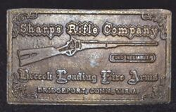 Sharps Rifle Company Old Reliable Breech Loading Fire Arms Brass Belt Buckle