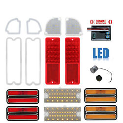 69-70 Chevy And Gmc Truck Led Red Tail Park Light Lenses And Brake Module Set Nh