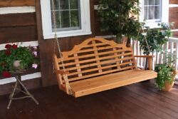 Aandl Furniture Co. Amish-made Cedar Marlboro Porch Swing - 3 Sizes And 9 Finishes