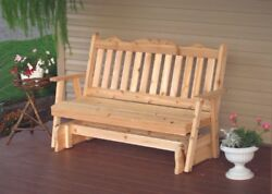 Aandl Furniture Co. Amish-made Cedar Royal English Glider Benches - 3 Size Options