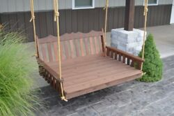 Aandl Furniture Co. Amish-made Cedar Royal English Swing Beds - 4 Sizes 9 Stains