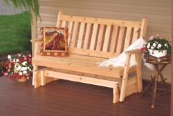 Aandl Furniture Co. Amish-made Cedar Traditional English Glider Bench In 3 Sizes