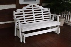 Aandl Furniture Co. Amish-made Pine Marlboro Glider Benches - 3 Sizes And 18 Colors