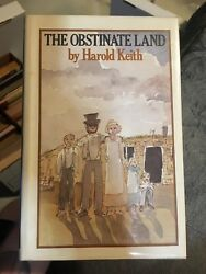 The Obstinate Land By Harold Keith Signed First Edition 1977 Hcdj Collectible