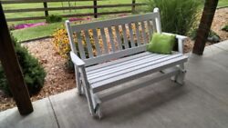 Aandl Furniture Co. Amish-made Pine Traditional English Glider Benches In 3 Sizes