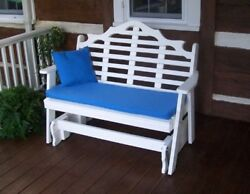 Aandl Furniture Amish-made Poly Marlboro Glider Benches - In 2 Sizes And 13 Colors