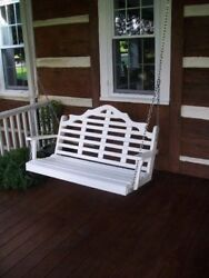 Aandl Furniture Amish-made Poly Marlboro Porch Swings - In 2 Sizes And 13 Colors