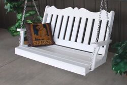 Aandl Furniture Amish-made Poly Royal English Porch Swings - 2 Sizes And 13 Colors