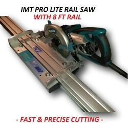 Imt Pro Lite Wet Cutting Makita Motor Rail Track Saw For Granite With 8 Ft Rail