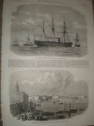Taking Telelgraph Cable To Alexandria Egypt 1868 Old Prints And Article Ref W1