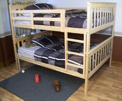 Versaloft Yellow Pine Twin Over Full Mission Bunkbed By Aandl Furniture Company