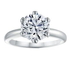1.55 Carat Womenand039s Diamond Engagement Solitaire Ring White Gold Jewelry F-g Vs2